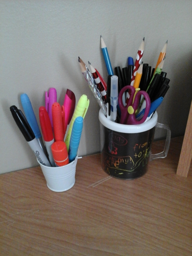 Pen and marker cups