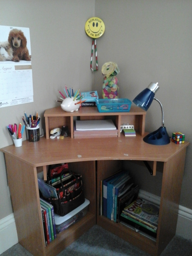 Completed homework desk