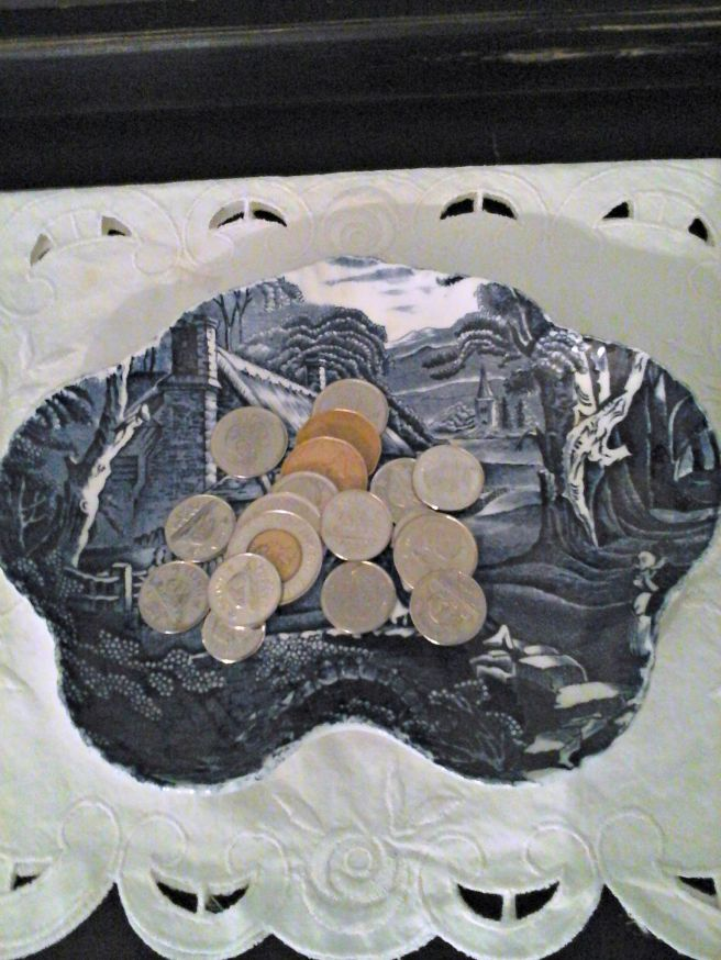 pretty plate to hold loose change