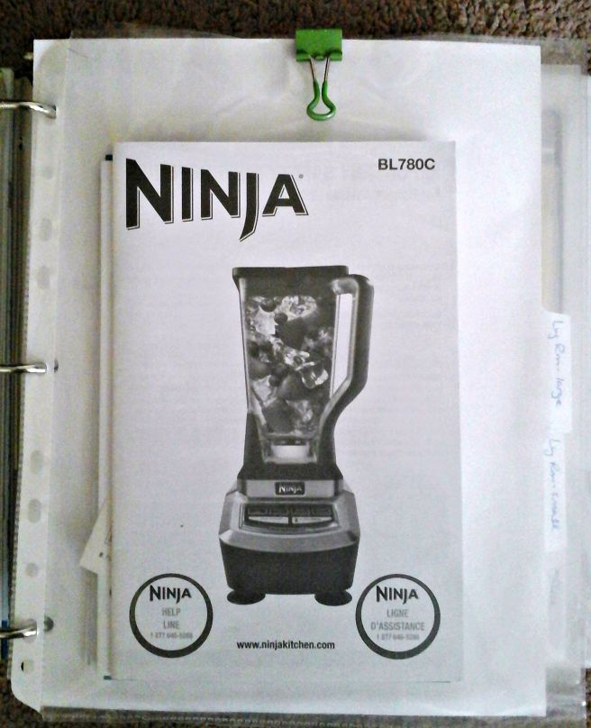 manuals binder clear plastic pocket with binder clip
