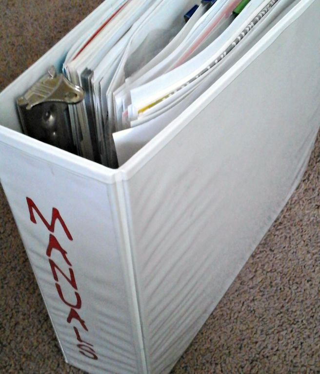 completed manuals binder