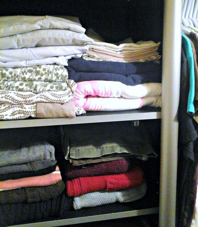 Master bedroom linen closet storage